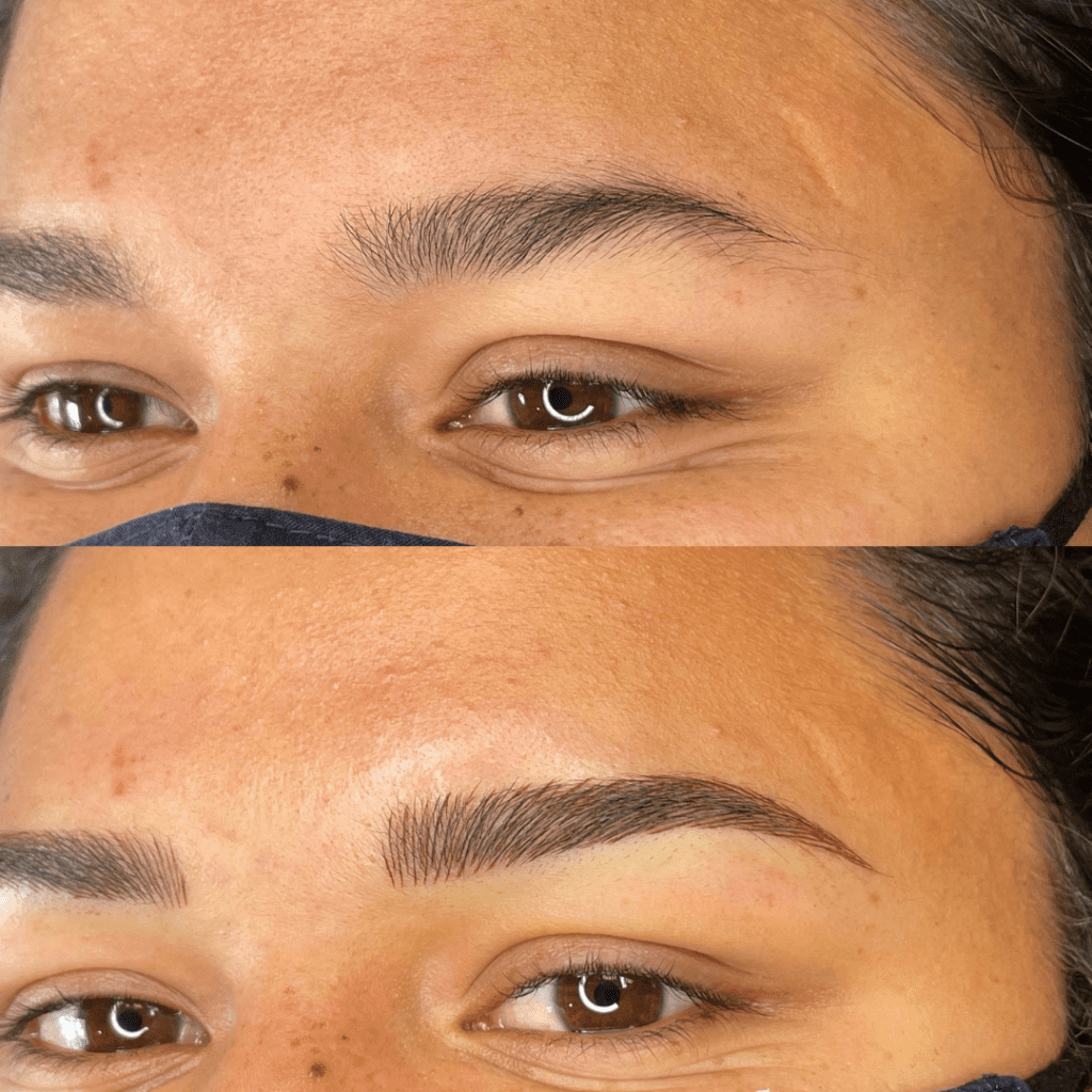 Microbladed Before and After